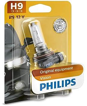 Philips 12361B1 Vision - Bombilla H9 para faros delanteros: Amazon.es: Coche y moto