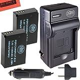 BM Premium 2-Pack Of LP-E12 Batteries & Charger Kit for Canon Rebel SL1 100D, EOS-M, EOS M2, EOS M10 Mirrorless Digital Camera