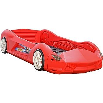 LCP Kids Lit enfant voiture RACER RB01 rouge lit auto de chambre ...