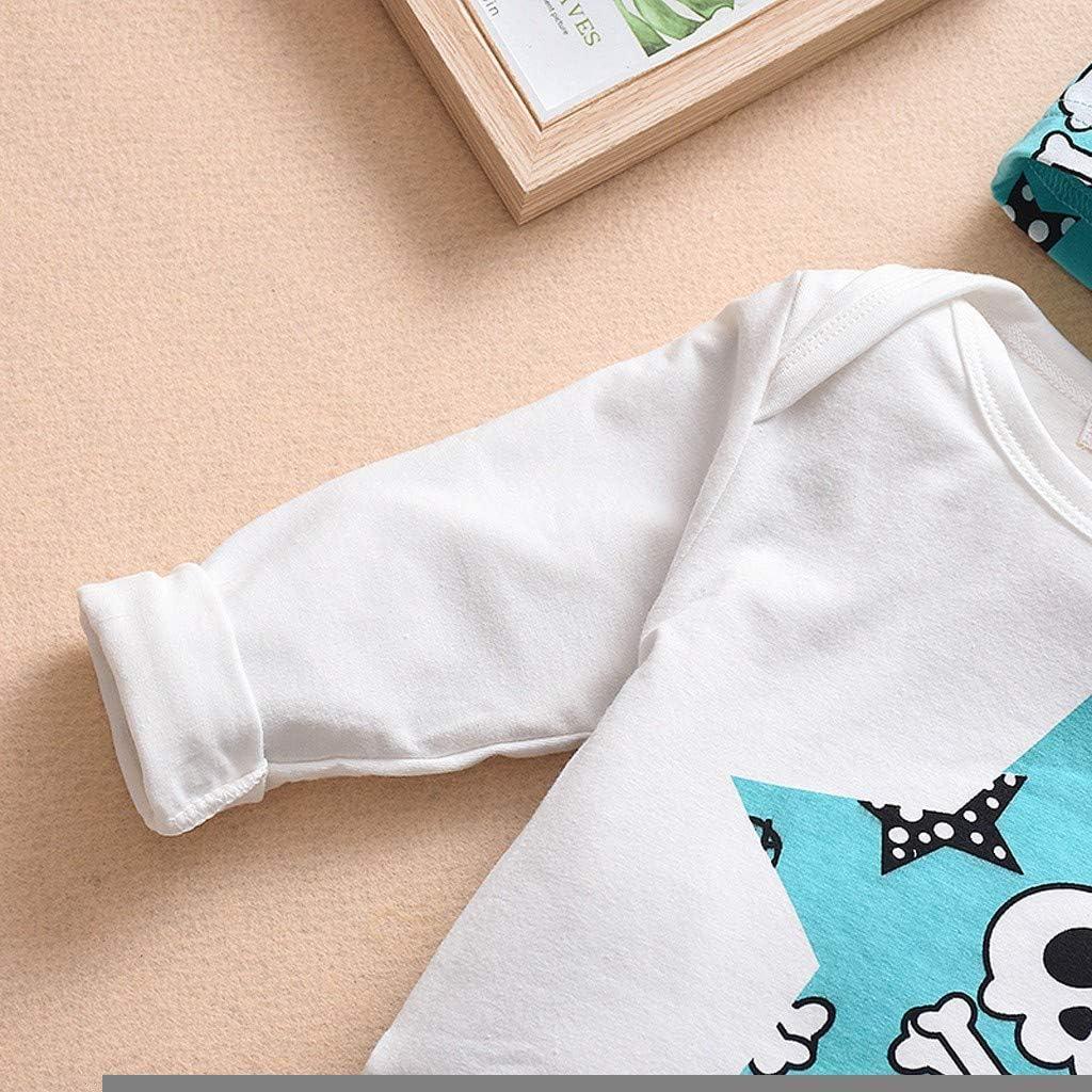 Pantalon Chapeau Automne et Hiver V/êtements Costume pour 0-24 Mois LABIUO 3Pcs Ensembles B/éb/é Gar/çons Filles Pyjama 100/% Coton Manches Longues Dessin Anim/é Motif T-Shirt Top