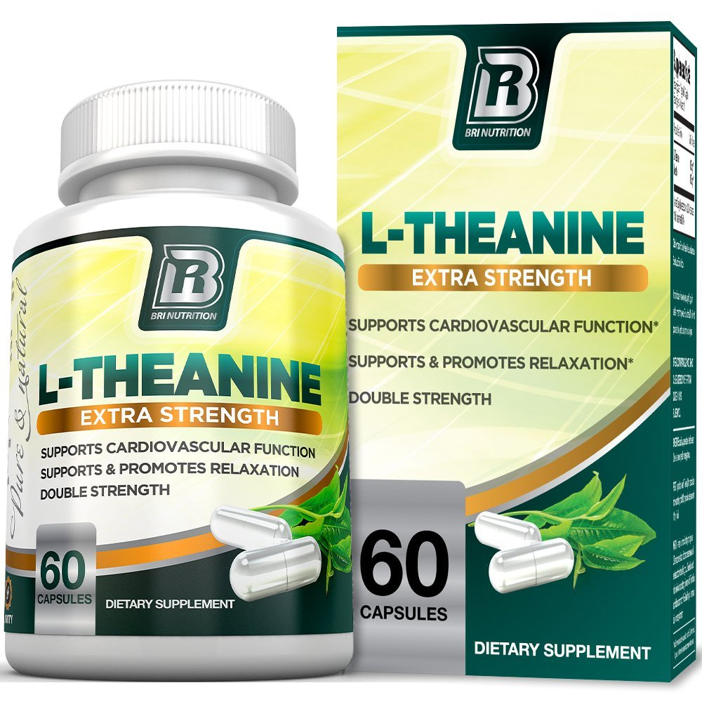 BRI Nutrition 200mg L-Theanine Enhanced with 100 mg of Inositol - 60 Count 200mg L Theanine Veggie Capsules by BRI Nutrition (Image #1)