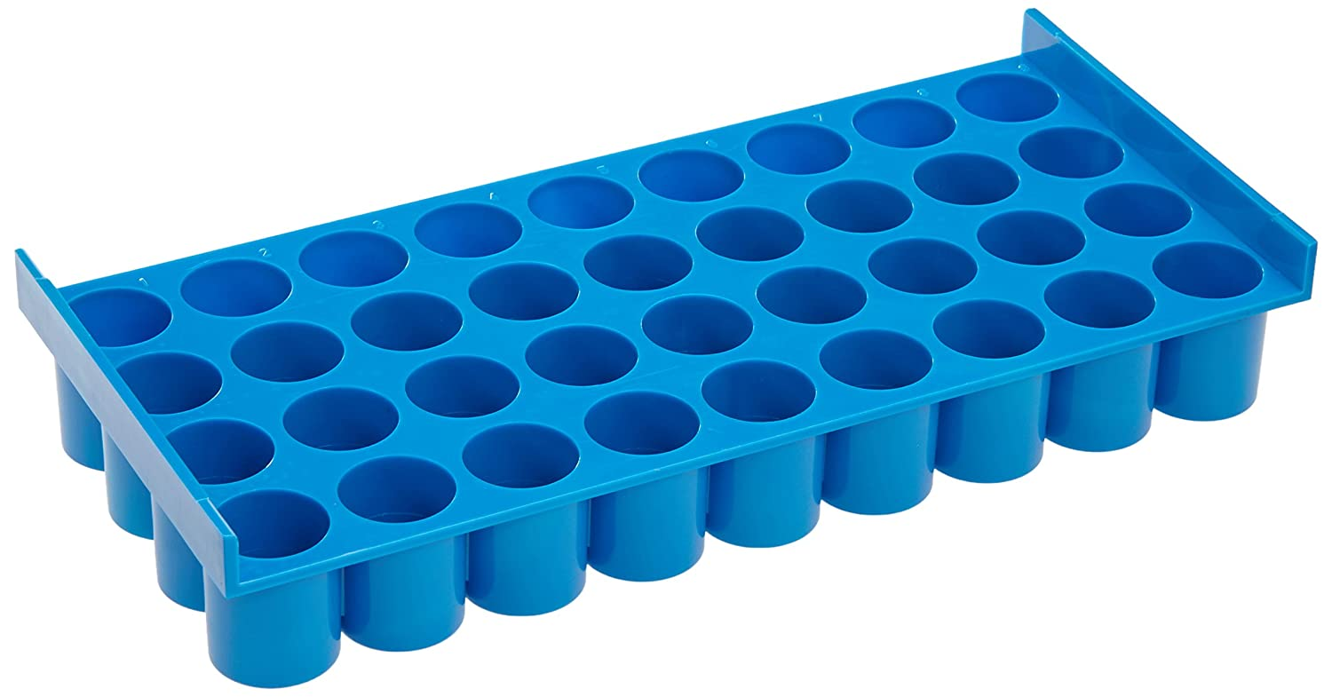 Neolab 2  2334  Frame, Polycarbonate, for Bottles Up To 15  mm 4  x 9  Blue for Bottles Up To 15 mm 4 x 9 Blue 2-2334