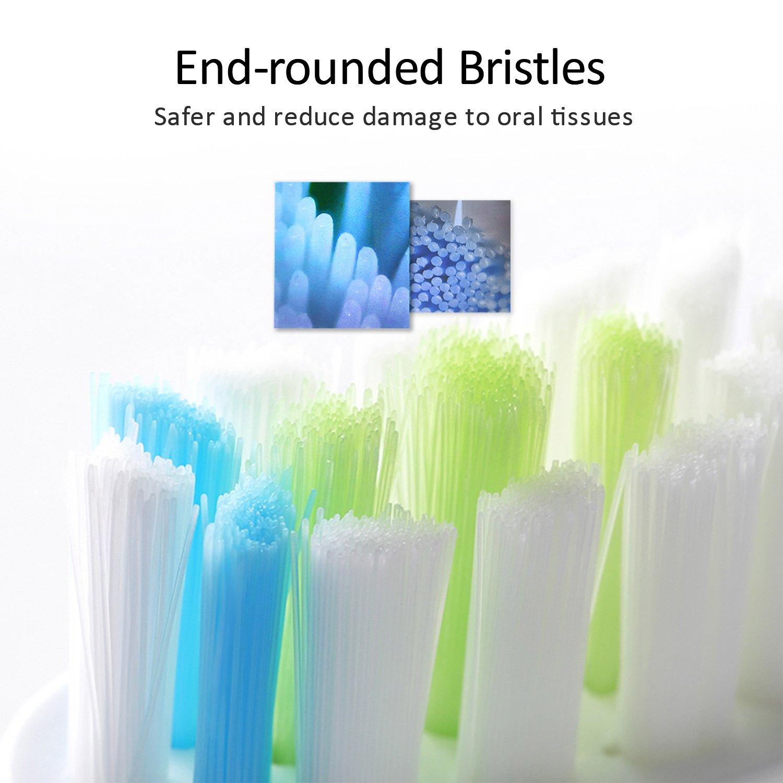 MitButy Cabezales de Repuesto para Philips Sonicare ProResults Eléctricos Cepillo de dientes| Pack de 8 | Cabezales de Recambio Compatible con DiamondClean, ...