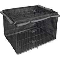 Explore Land Dog Crate Cover for 24 30 36 42 48 Inches Wire Cage, Heavy-Duty Lattice Pet Kennel Covers Compatible with 1…