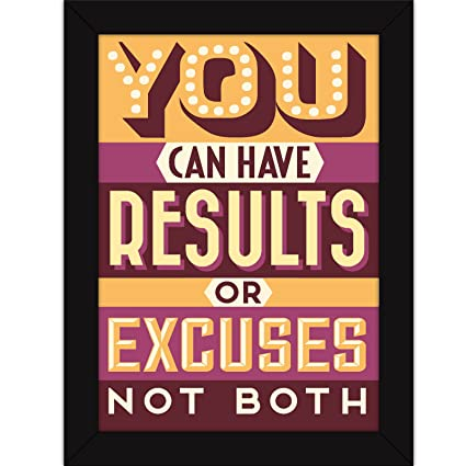 motivational frames for office. Fatmug Motivational Poster With Frames For Office And Home - Gym Workout Quote Results Or