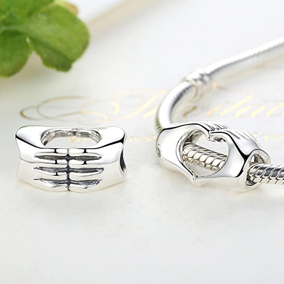 Humorous Authentic 925 Sterling Silver Bead Charm Gold Always In My Heart With Crystal Beads Fit Pandora Bracelet Diy Jewelry Fancy Colours Beads