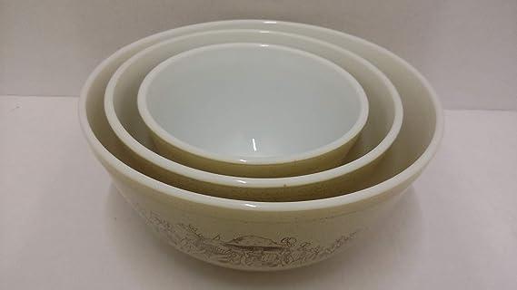Pyrex Blue Horizon Mixing Bowl 403 Vintage 1970s 2.5 Quart Bowl
