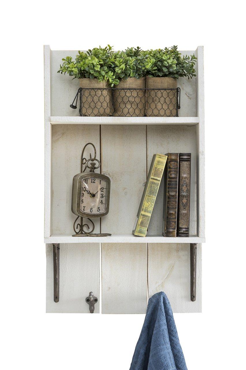 del Hutson Designs USA Handmade Reclaimed Wood Rustic Bathroom Shelf, White by del Hutson Designs (Image #3)