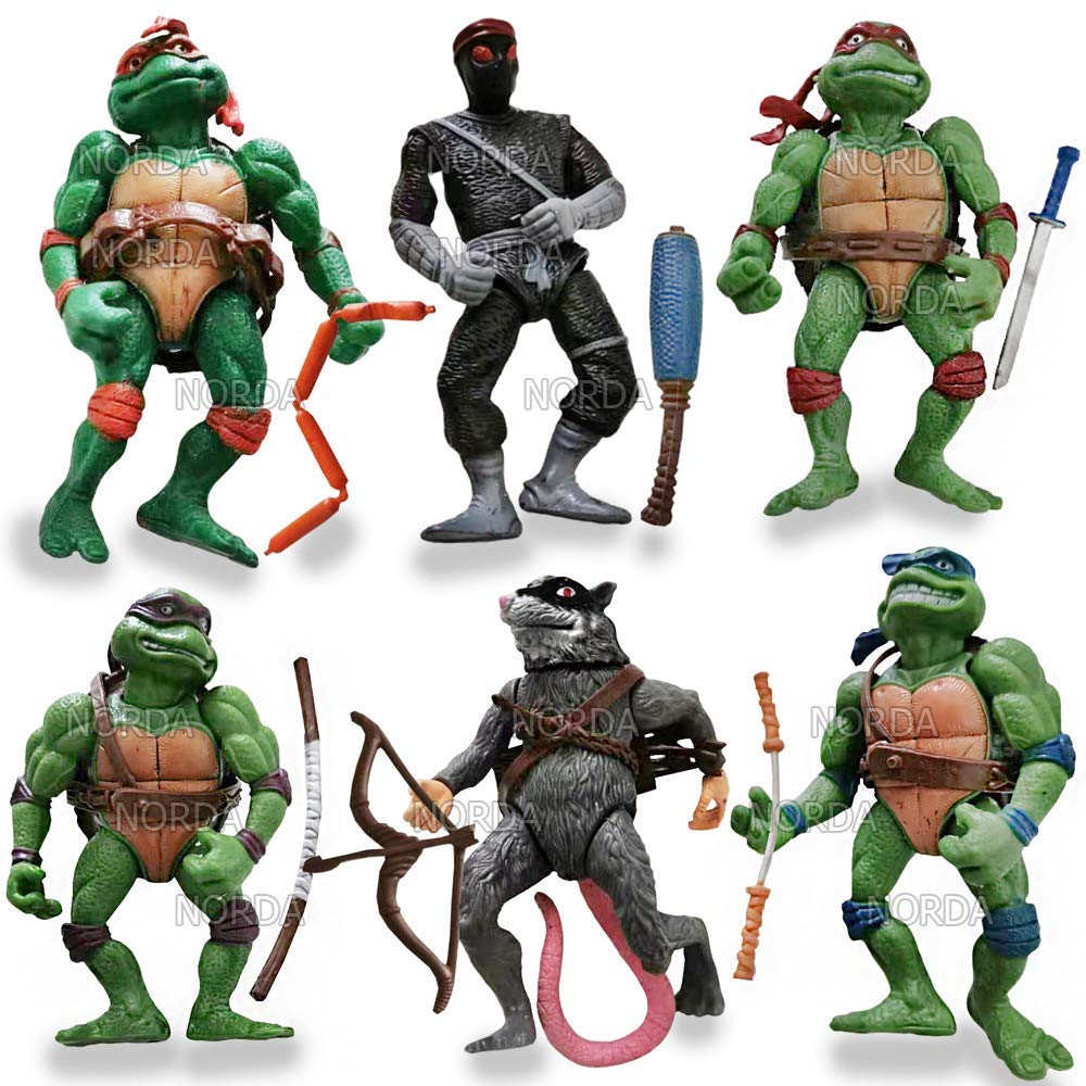 Mutant Ninja Turtles Action Figures Leonardo, Donatello, Michelangelo, Raphael. Toys Cake Toppers Free Stickers