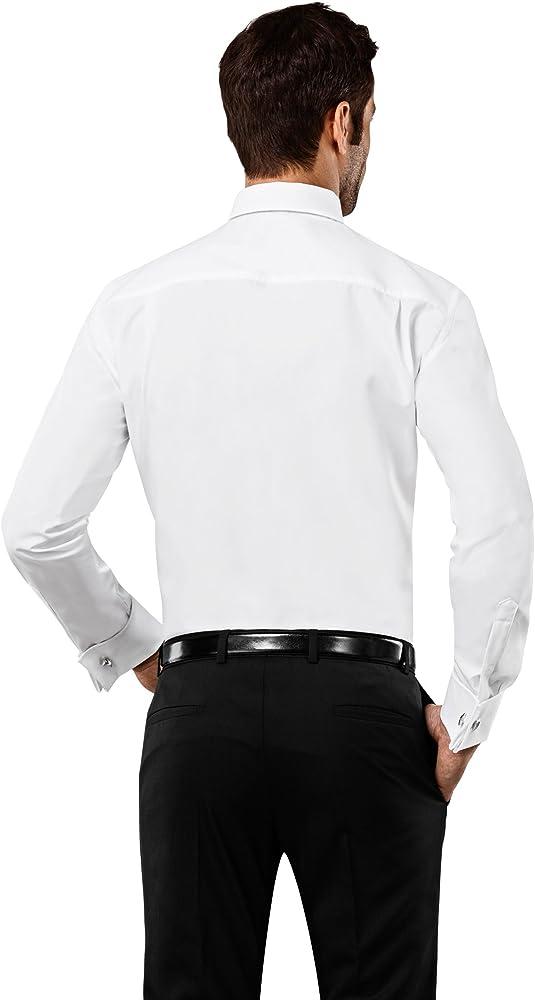Vincenzo Boretti Camisa Hombre Blanco 37/38 cm (14.5/15