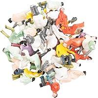 tellaLuna Ungefär 50 x figurer passagerare sittande målad miniatyrdekor för tågskala 1:87 Vente chaude