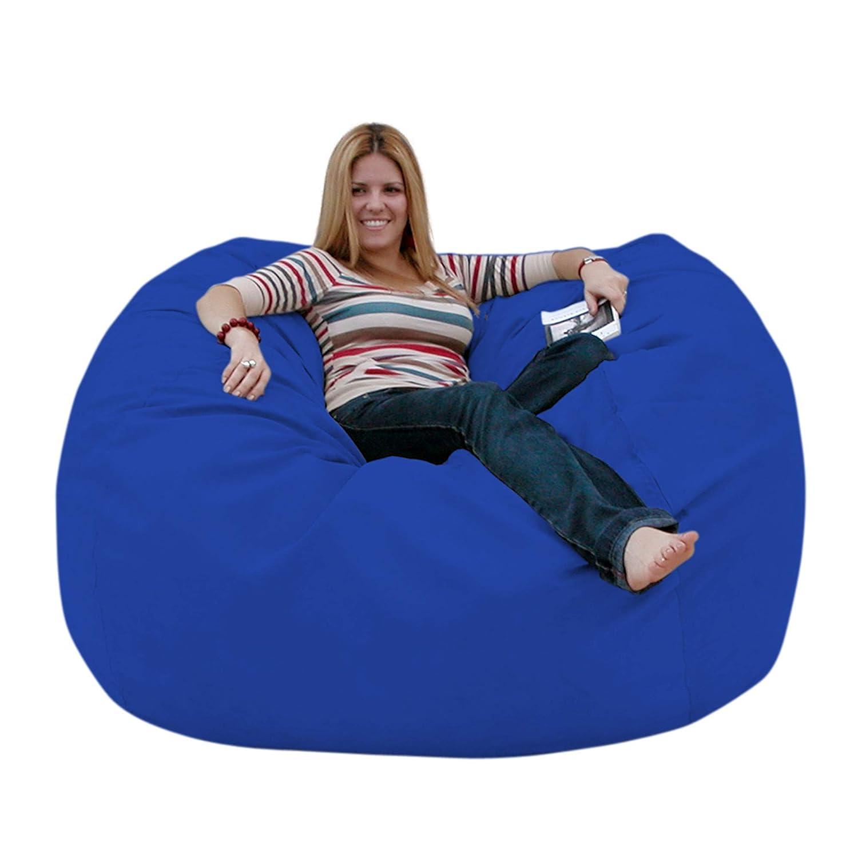 Royal bluee 5 feet Cozy Sack 4-Feet Bean Bag Chair, Large, Navy