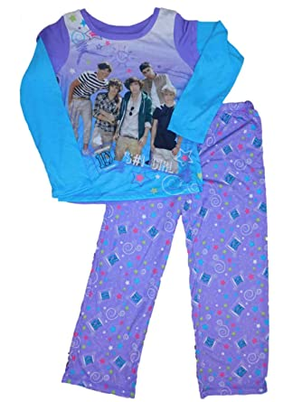 Amazon.com: 1D Girls Purple One Direction Pajamas 1 Girl Flannel ...