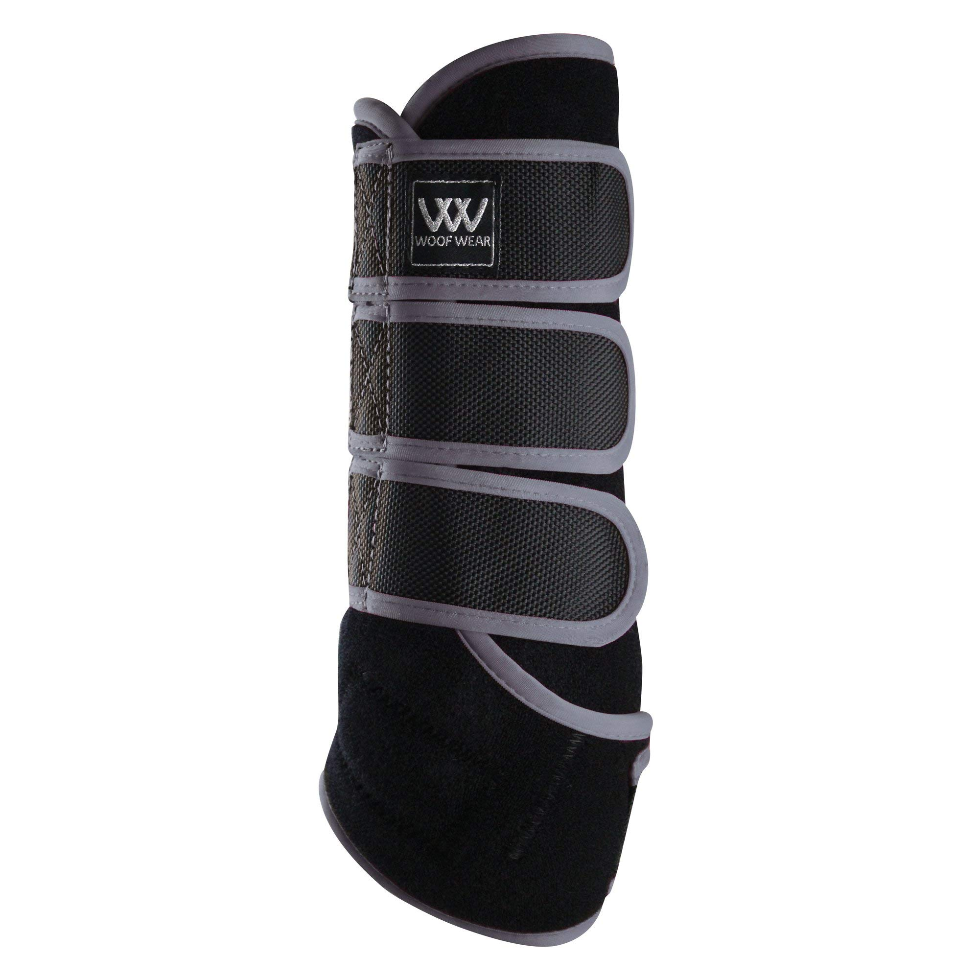 WOOF WEAR Dressage Exercise Wrap Small Black Brushed Steel