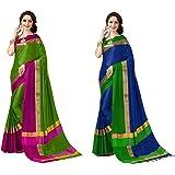 Art Décor Sarees Women's Pack of 2 Sarees Cotton Silk Saree With Blouse ( Pack of Two Sari)