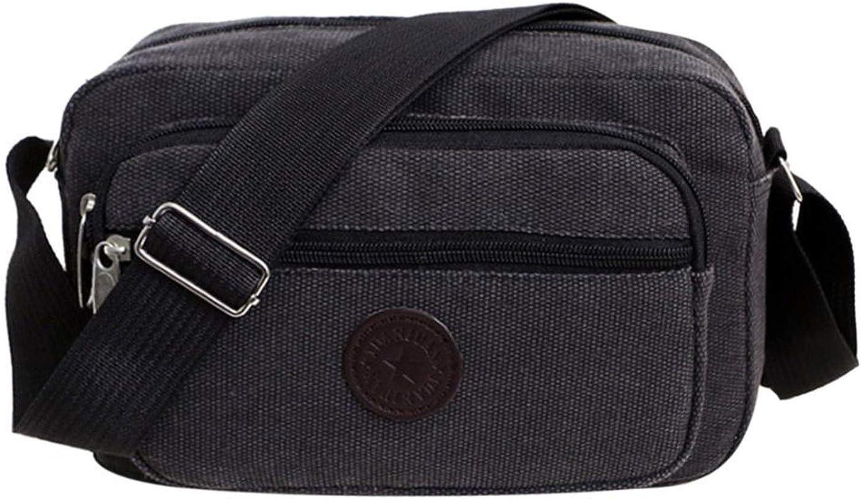 Fashion Bag Men Canvas Zipper Shoulder Bag Messenger Bags Black Khaki Brown Color Handbag Travel Bolso Hombre