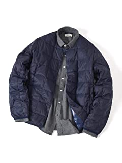 Crew Neck Button Down Jacket 118-88-0005: Navy