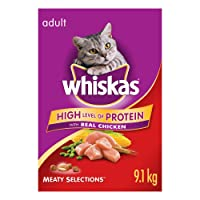 Whiskas Dry Food for Cats - Meaty Selections - 9.1 kg
