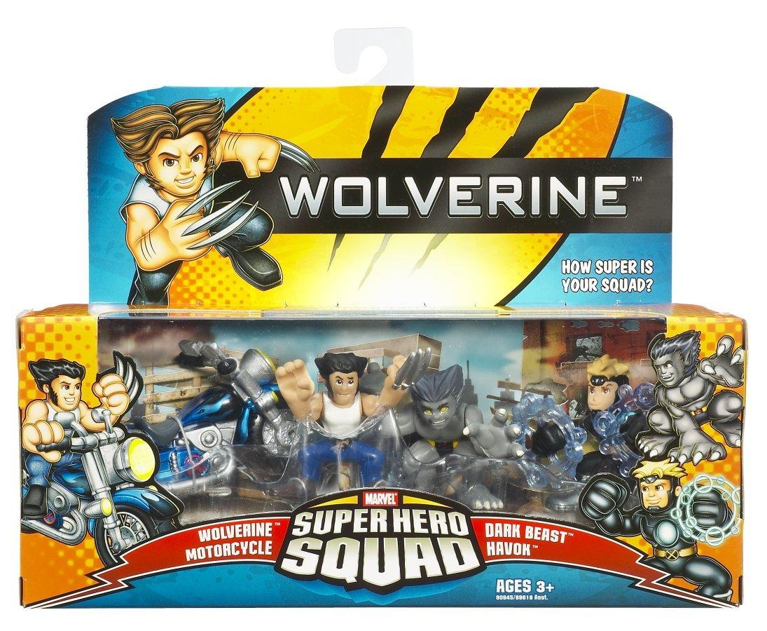 Wolverine Super Hero Squad Wolverine Motorcyle Dark Beast Havok by Hasbro