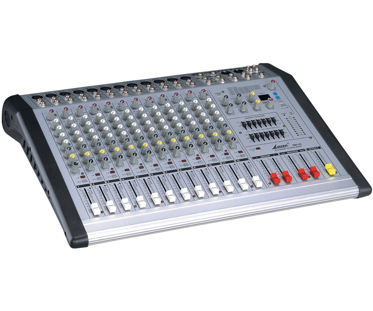 Lane 12-channel Mixer Pmx-122 Mixing Console Dj Mixer Sound
