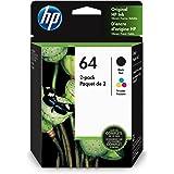 HP 64 Black & Tri-Colour Original Ink, 2 Cartridges (X4D92AN)