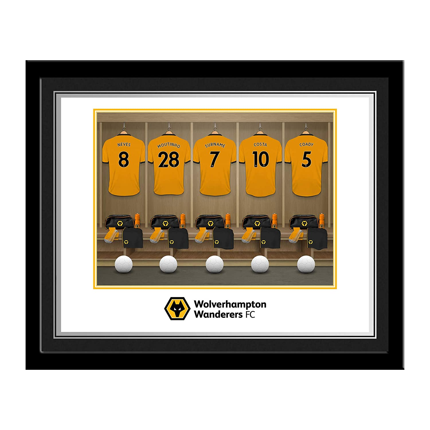 Official PERSONALISED Wolves Dressing Room Photo Framed - FREE PERSONALISATION Content Gateway