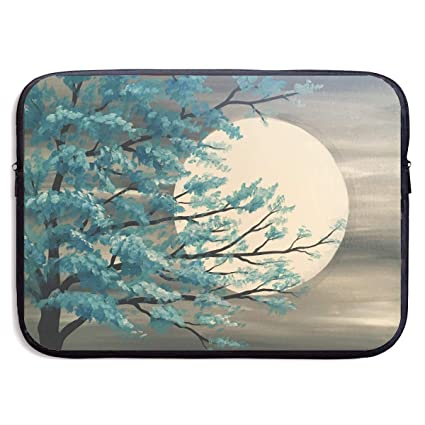 e62b177104e8 Amazon.com: CHJOO Laptop Sleeve Bag Trees Moon Painting Art 13/15 ...