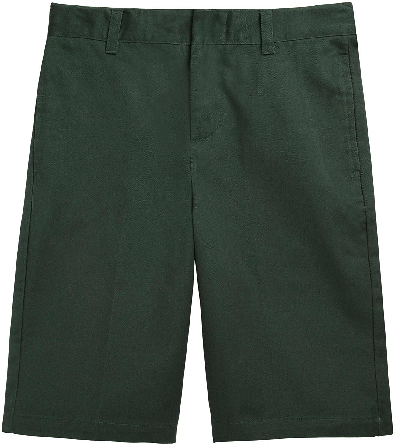 French Toast School Uniform Boys Flat Front Adjustable Waist Shorts, Hunter Green, 12
