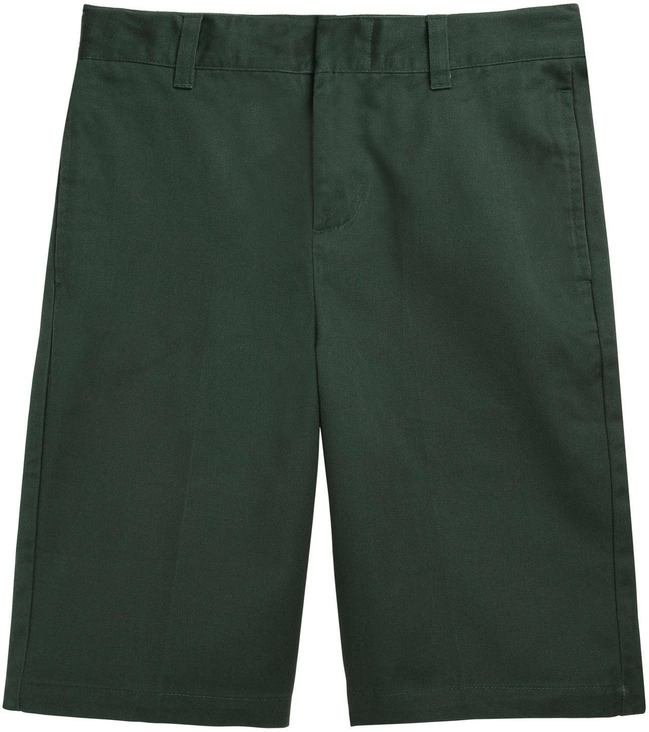 French Toast School Uniform Boys Flat Front Adjustable Waist Shorts, Hunter Green, 16