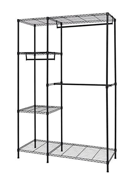 Finnhomy Heavy Duty Wire Shelving Garment Rack For Closet Organizer Portable  Clothes Wardrobe Storage With Adjustable