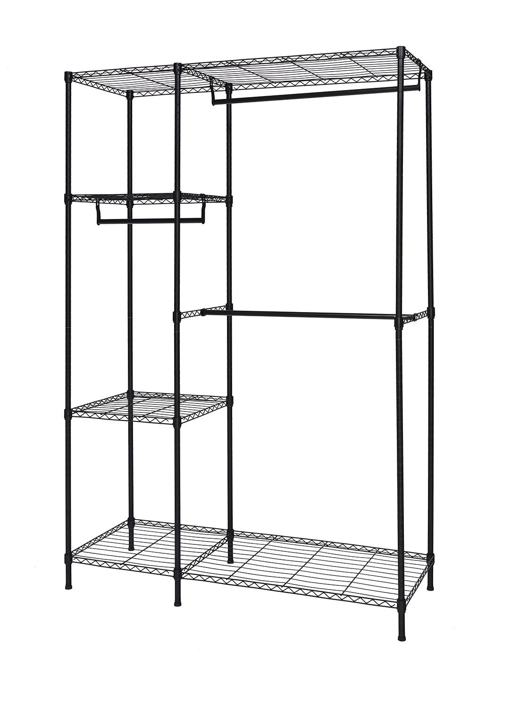 Finnhomy Heavy Duty Wire Shelving Garment Rack for Closet Organizer ...