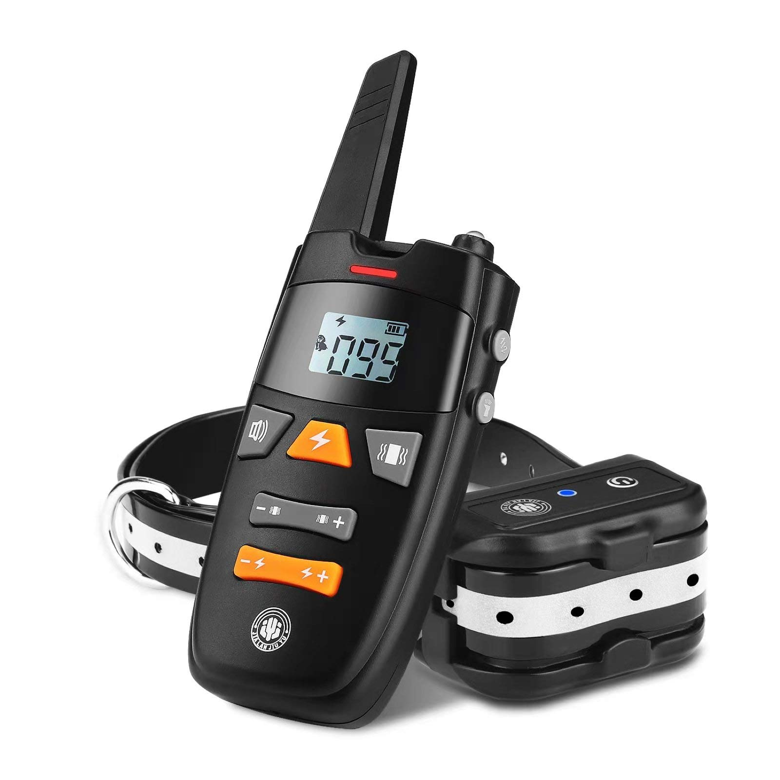 JIALANJIUYU Dog Training Collar,Rechargeable Shock Collar for Dogs, E-Collar up to 1800FT Remote Range, Beep/Vibration/Shock 3 Training Modes,100% Waterproof Shock Training Collar Dogs (Black-A77)