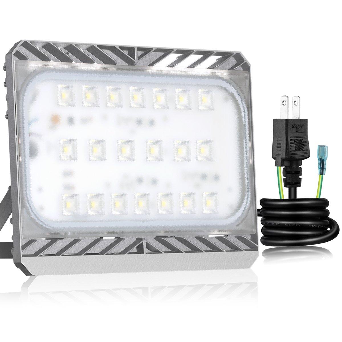 【三年保証】SOLLA Sliver 高品質LED投光器 100w 6000K 昼白色 CREE製素子 日本レベル筐体 IP65防水防塵 長寿命広角フラッドライト 作業灯 B01N4EQZ4A 100w|昼白(6000K) 昼白(6000K) 100w