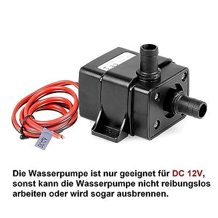 TSSS Brushless Mini Wasserpumpe 240L/H 4.8W Submersible Pumpe Amphibisch Aquarium Gartenteich Fall Fisch Behälter Wasser Brun