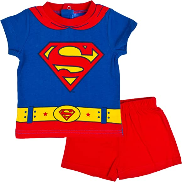 BOYS SUPER HERO BATMAN SUPERMAN PYJAMAS NIGHTWEAR Older Boys