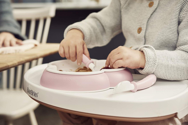 BabyBj/örn 074066 Plato 2 juegos cuchara y tenedor para beb/é