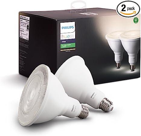 Philips Hue White Outdoor Par38 13w Smart Bulbs Philips Hue Hub Required 2 White Par38 Led Smart Bulbs Works With Alexa Apple Homekit And Google