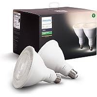 Philips Hue - Luz blanca de exterior, 2 focos, Blanco
