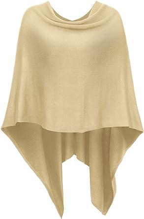 Women Knitted  Cardigan Poncho Sweater Oversized Asymmetric Coat Top  Wool Melange