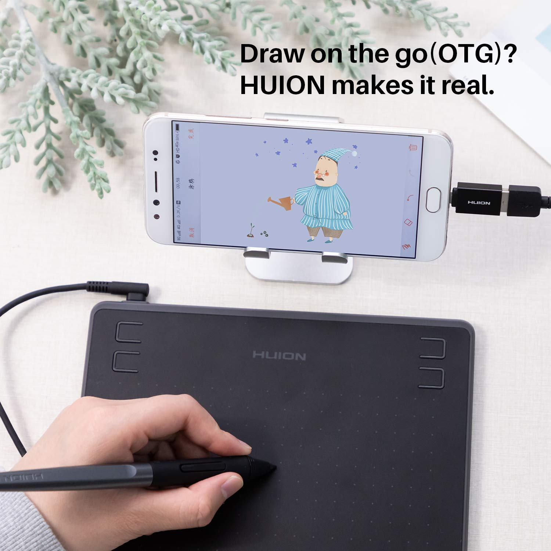 HUION Adaptador USB OTG-Micro Compatible con la Tableta gr/áfica