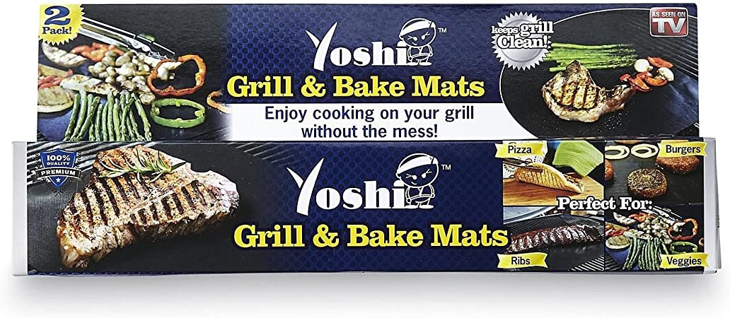 Yoshi Grill Baking Mat Set Nonstick 2 Pack