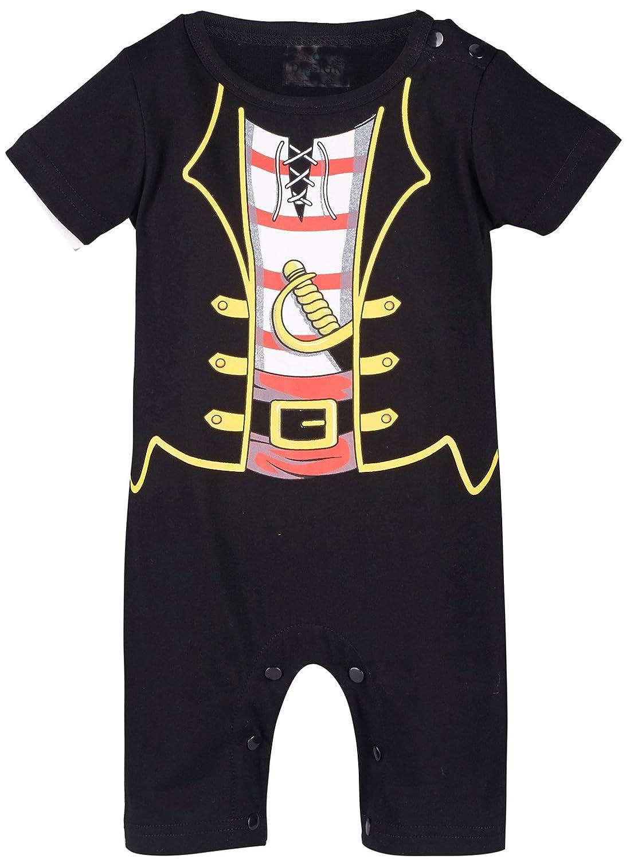 Mombebe Baby Boys Ninja Costume Short Romper Jumpsuit Pirate Cowboy Punk Police Cosplay