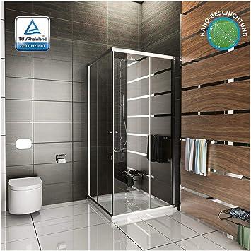 Cabina de ducha/ducha cuadro/90 x 190 cm aprox ducha/cabina de ducha con puertas correderas/entrada por la esquina/modelo Fugo entrada por la esquina/ducha con juego de accesorios: Amazon.es: Bricolaje y herramientas