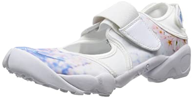 nike womens air rift print running trainers 807398 sneakers shoes (US 6,  white black