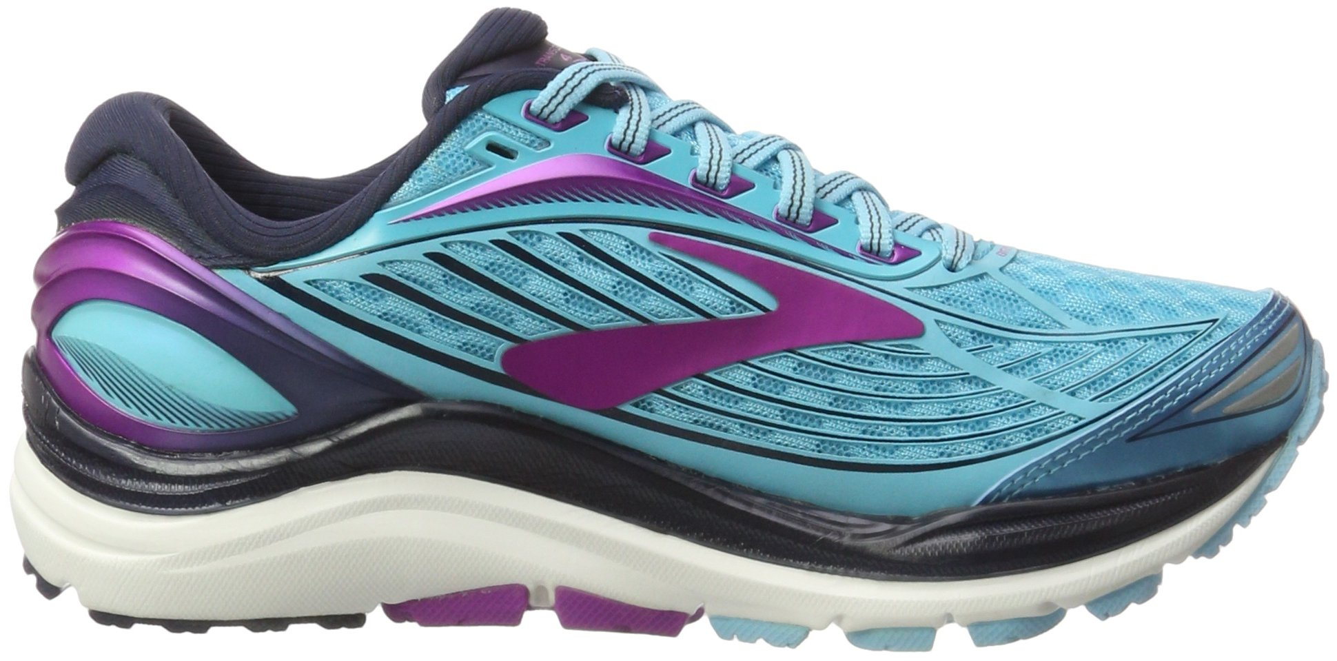 Brooks Women's Transcend 4 Bluefish/Peacoat/Purple Cactus Flower 6.5 B US by Brooks (Image #6)