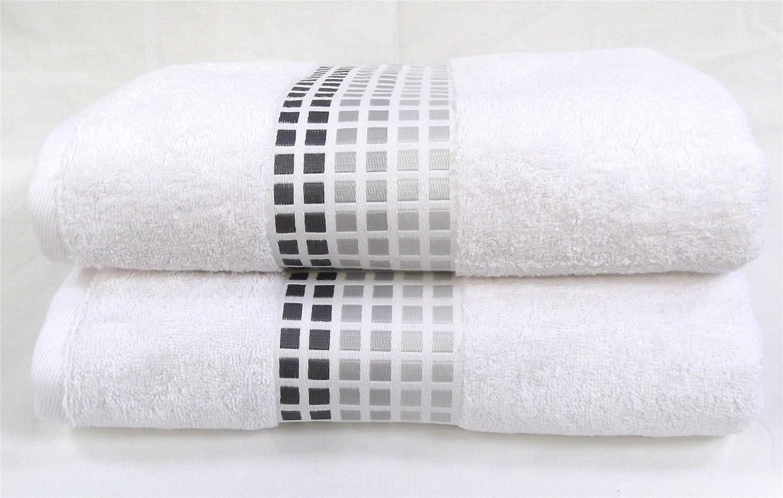 Sally Mosaic Bath Towel Black Silver Grey Squares Bathroom Super Soft 100%  Cotton Hallways ®: Amazon.co.uk: Kitchen U0026 Home
