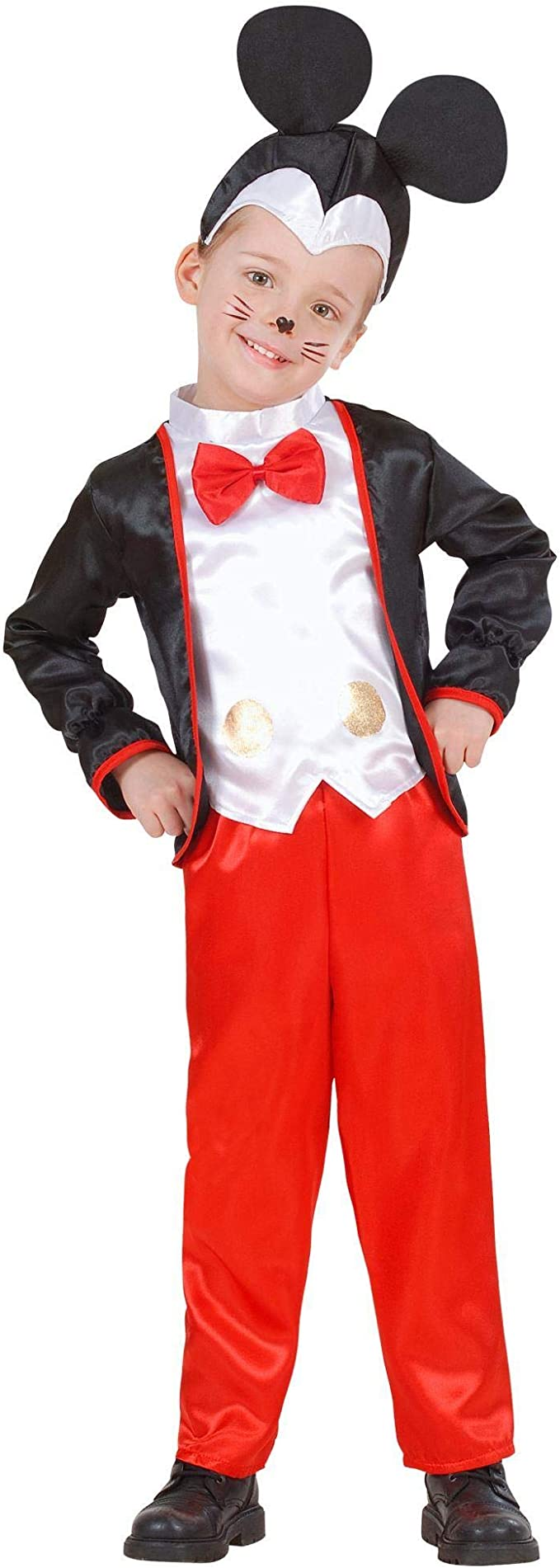 WIDMANN 43875 - Disfraz de Mickey Mouse para niños, multicolor ...