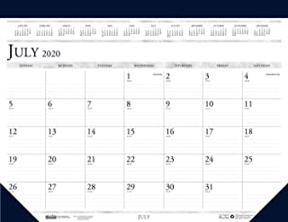 product image for House of Doolittle 2020-2021 Monthly Desk Pad Calendar, Academic, Classic, 18.5 x 13 Inches, July - August (HOD1556-21)