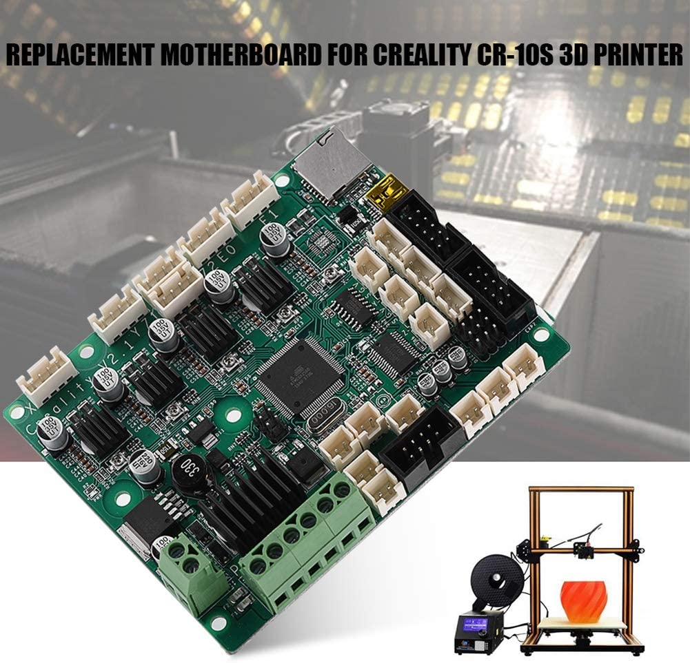 Control Board Mainboard for Creality CR-10S 3D Printer with Special Power Chip (Green Work with E//Z//Y//X Axis Motor Zopsc Replacement Motherboard