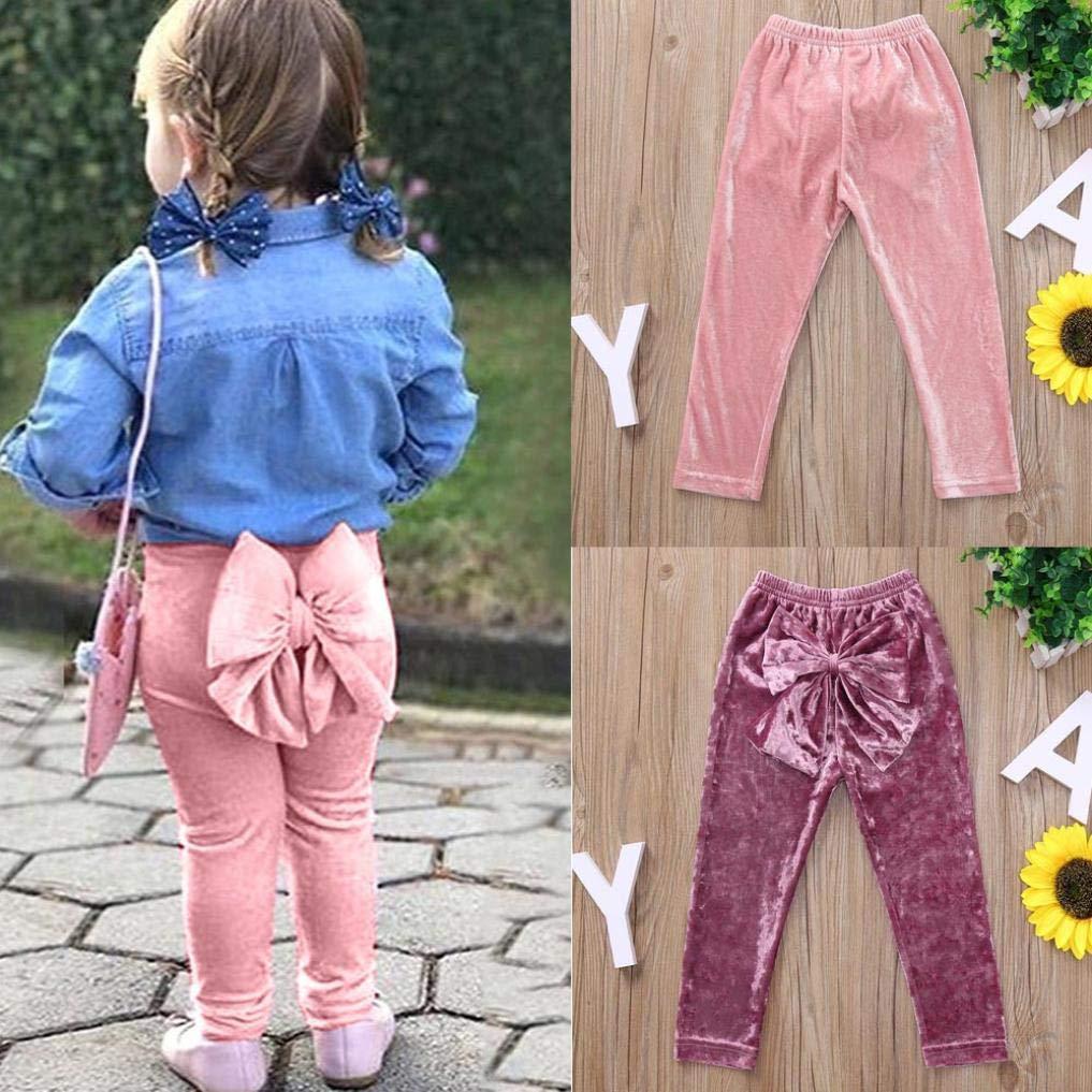 Kinlene Pantaloni Bambino Capretti Neonate di Bowknot Pantaloni Lunghi di Abbigliamento dei Bambini